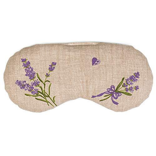 Augenkissen Lavendel & Leinsamen, zur Entspannung, zum Kühlen, erwärmen oder für Yoga (Farbe: