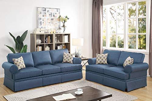 Poundex Sofas, Blue