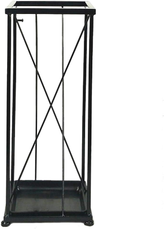Jiale Metal Umbrella Stand-HJCA Household Creative Simple Rain Gear Storage Rack Hotel Landing Umbrella Bucket (Size  7.87 × 7.87 × 19.29 Inches)
