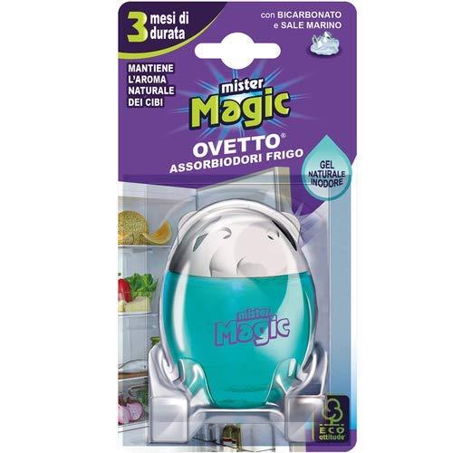 Mister Magic, Ovetto Assorbiodori Frigo, con Bicarbonato e Sale Marino, Mantiene Inalterato l'Aroma dei Cibi, Durata fino a 3 Mesi