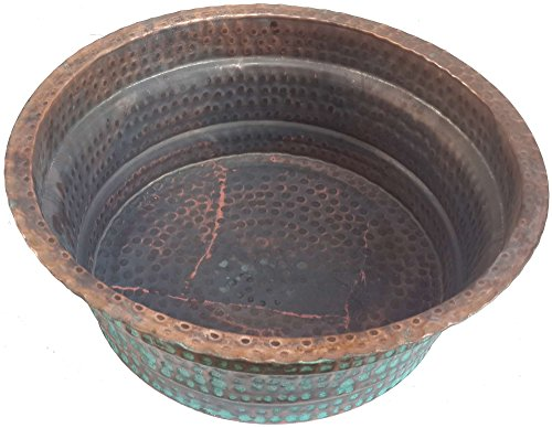 Egypt gift shops Oxidized Matte Copper Basin Matte Arthritis Foot Massage Bath Pedicure Spa Beauty Salon