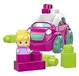 Mega Bloks- Coche Descapotable Rosa Juego de Bloques de Constr, Multicolor (Mattel DYT62)