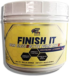 Finish It Premium Stevia BCAA Electrolyte Pump Matrix #1 BCAA No Artificial Colors, Vegan/Keto Friendly 30 Servings