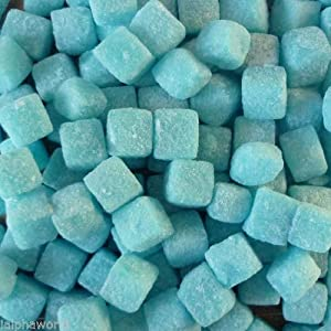 blue raspberry cubes sweets 500g bag Blue Raspberry Cubes Sweets 500g Bag 515LGeAundL