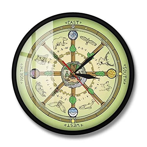 LTMJWTX La Rueda del año Reloj de Pared con impresión Sím