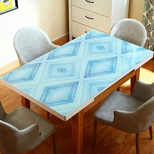 MU Couchtisch Tischdecke, PVC Tischdecke, Tischset Anti-Kaffeefleck Einfach zu reinigende Hochzeitsküchenparty, Restaurant Tischdecke,70 × 120 cm