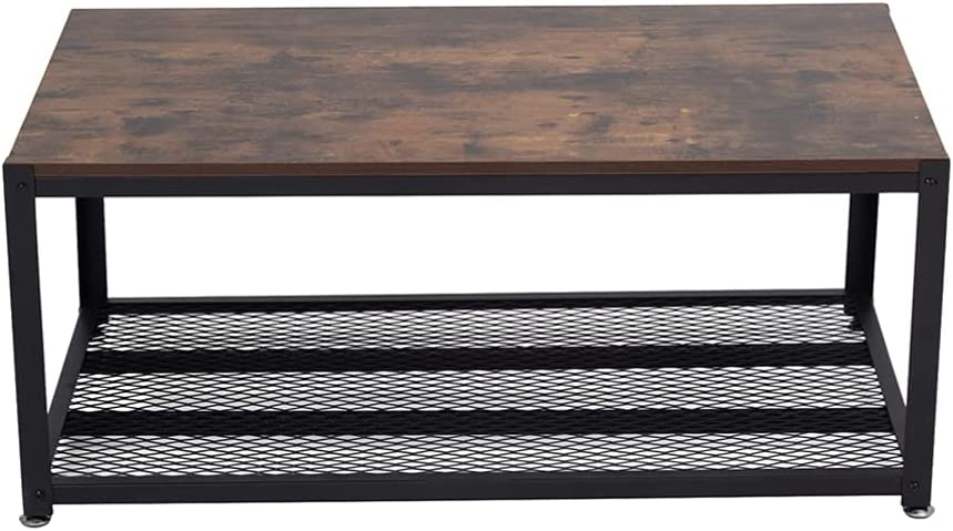 New popularity BESPORTBLE Easy Assembly Max 42% OFF Industrial Coffee Tier Fr Metal 2 Table