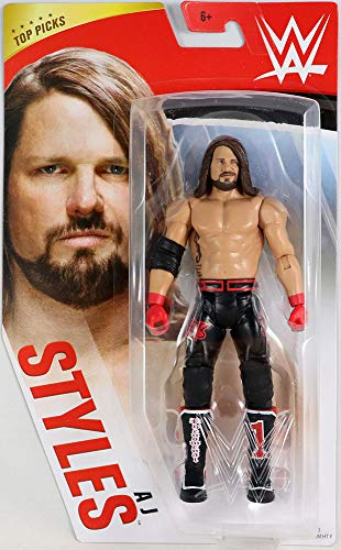 WWE Top Picks 6-inch Action Figures with Articulation & Life-Like Detail, Aj Styles