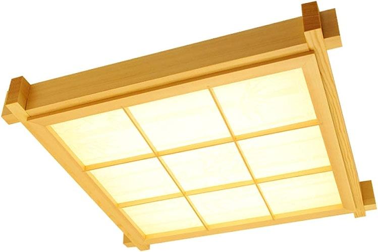 DINGDENG Plafonnier en Bois Massif Couleur pin sylvestre, plafonnier LED Japonais, Lampe allée en pin, Lampe de Balcon, Lampe de Chambre à Coucher - lumière Chaude
