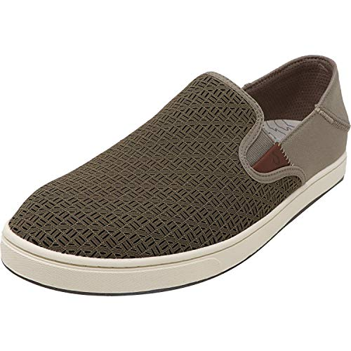 OLUKAI Men's Kahu Aho Shoes, Clay/Off White, 9 M US