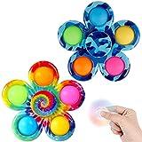 LONEA 2 Pcs Fidget Spinners,Simple to Dimple Fidget...