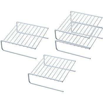 下村企販 日本製 ディッシュラック 4個組 食器棚 収納 積み重ね スペースラック 白 15848