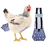 KAMA BRIDAL Chicken Diaper, Pet Diaper for Chook Duck Goose Adjustable Washable Reusable Diaper for Poultry