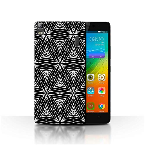 Phone Case for Lenovo K3 Note/K50-T5 Black Fashion Abstract Shapes Transparent Clear Ultra Slim Thin Hard Back Cover