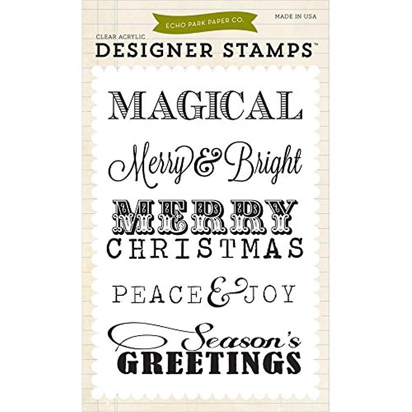 Echo Park Paper Company Christmas Sentiments Stamp Set