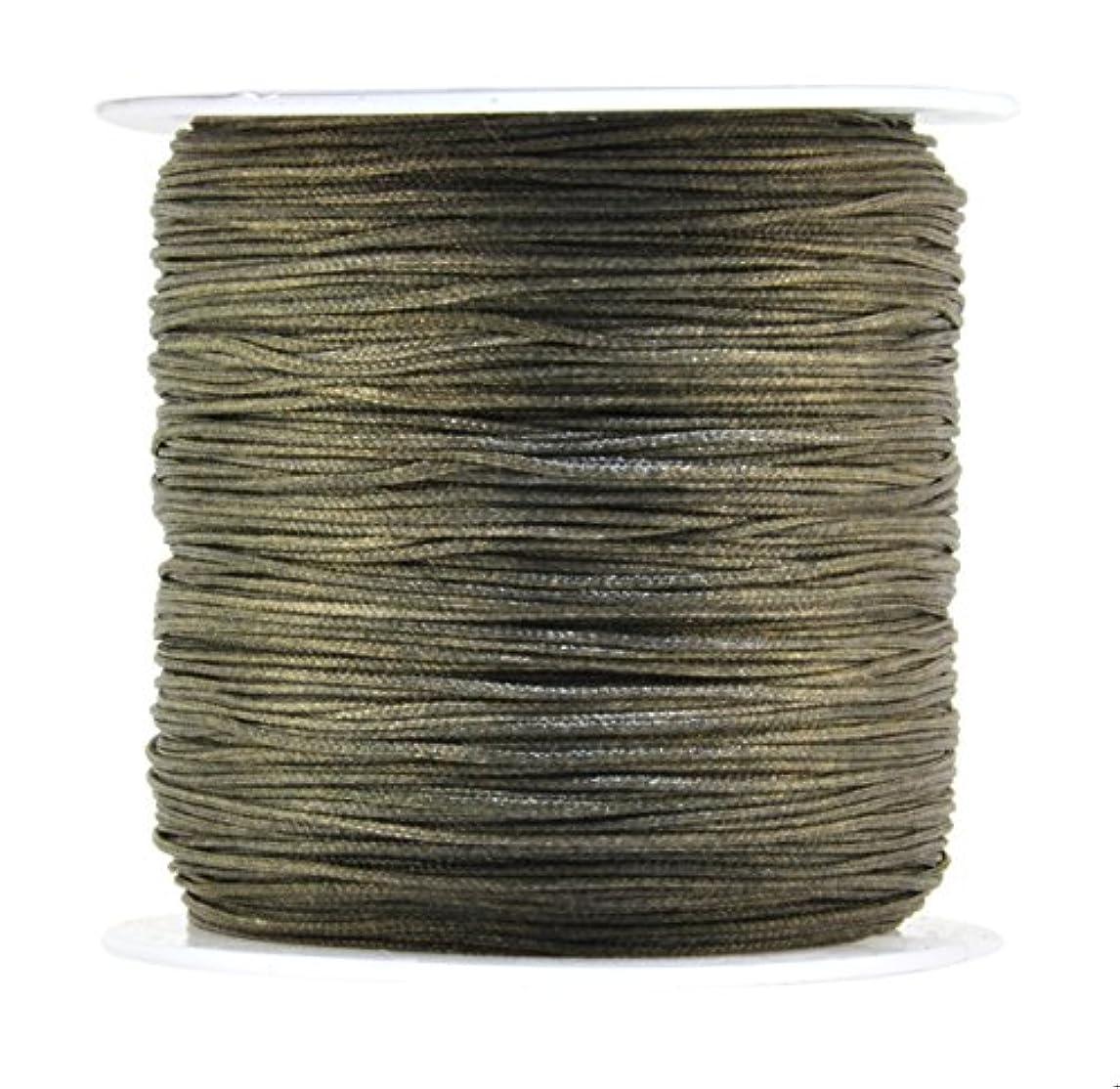 Mandala Crafts 0.8mm 100M Satin Nylon Chinese Knot Rattail Macramé Beading Knotting Sewing Cord (Brown) zarqc49671079933