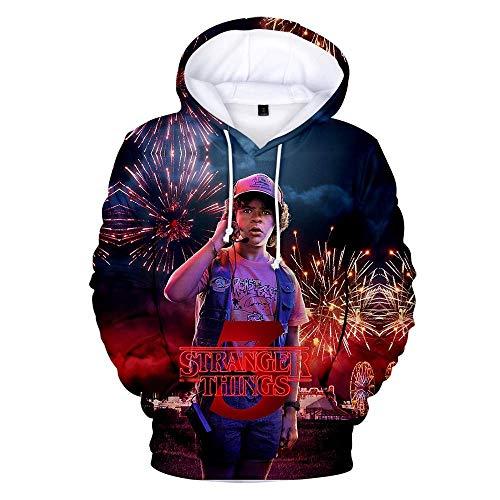 NFLSWER kinderen vreemdere dingen hoodie 3D gedrukte trui Sweartshirt sportkleding lange mouw voor mannen en vrouwen jongens meisjes