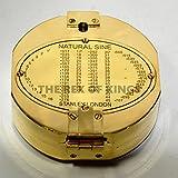 4'latón macizo Brunton brújula instrumento tradicional utilizado por geólogos para medición