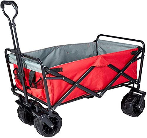 WBJLG Carro de compras al aire libre Carrito plegable portátil carro 7 pulgadas para compras en la playa