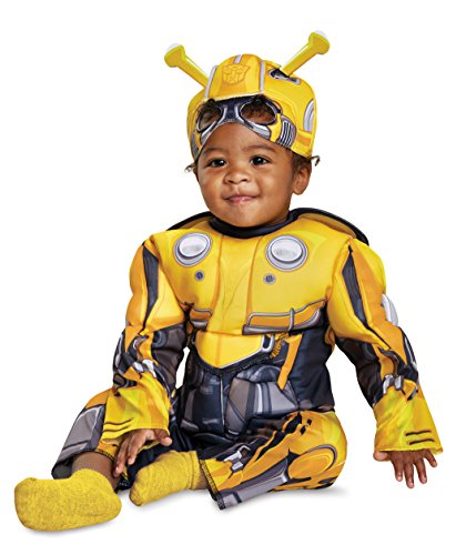 Disguise Bumblebee Toddler Muscle Child Costume, Yellow, Size/(2T)