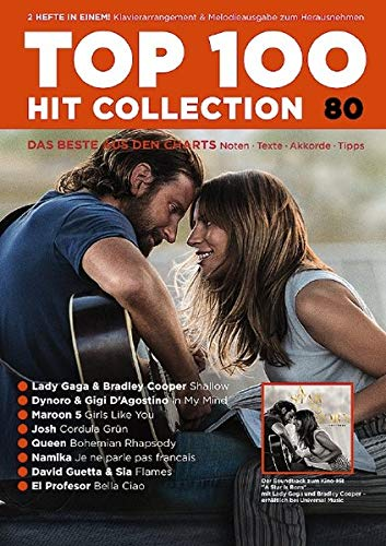 Top 100 Hit Collection 80: 8 Chart Hits: Shallow - In My Mind - Girls Like You - Cordula Grün - Bohemian Rhapsody - Je ne parle pas français - Flames ... Band 80. Klavier / Keyboard. (Music Factory)