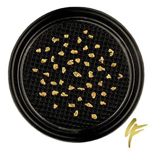 10, 20, 50 echte Goldnuggets aus Alaska mit Zertifikat 20-23 Karat 1-2 mm groß Münze Barren (50 Goldnuggets)