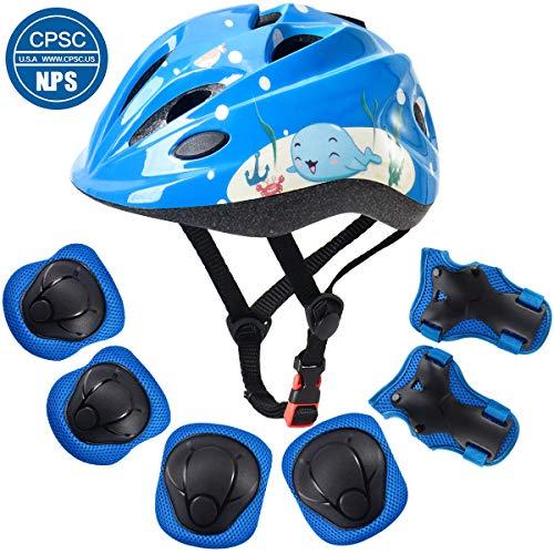 Why Choose ArgoHome Kids Helmet Protective Gear Set Toddler Helmet Kids Knee Pads for 3-8 Years Toddler Youth Bike Skateboard Helmet Knee Elbow Wrist Pads for Roller Bicycle Bike Skateboard -Yellow