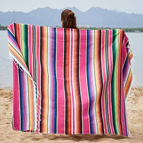 Alexny Estera de Playa, Manta de Toalla de Playa Hecha Punto algodón superfino Adulto, Estera de Mesa de Gran tamaño para Comida campestre