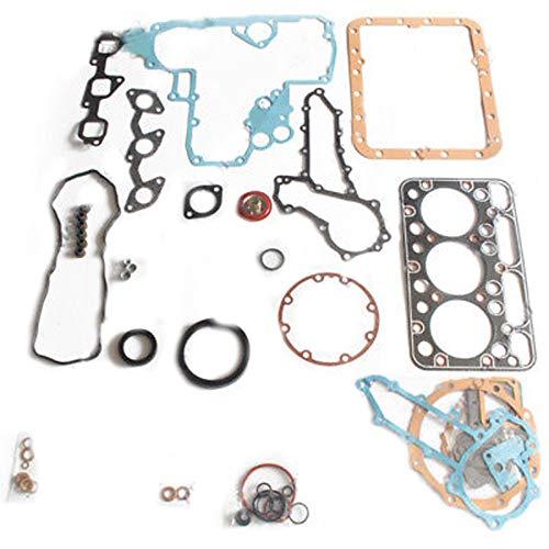 D1462 Engine Gasket Kit - SINOCMP Excavator Parts for Kubota Excavator Tractor KX155 bobcat 328C, 3 Month Warranty