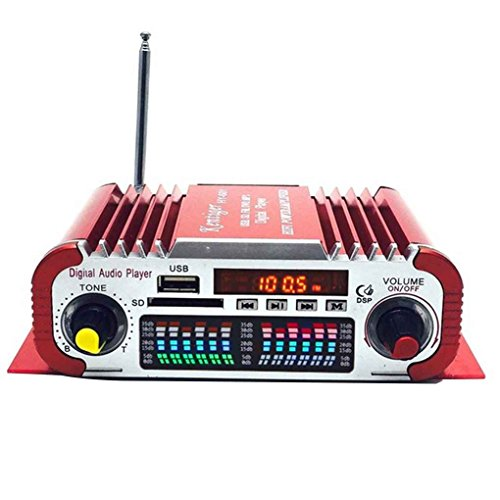 Mengonee HY601 Digital USB FM Audio 12V LED-Stereo-Auto-Verstärker-Radio MP3-Lautsprecher Sound-Modus-LED Audio Musik-Player