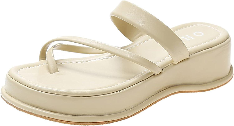 Platform Online limited product Rapid rise Slide Sandals for Womens Strap Fashion Comfortab Cross
