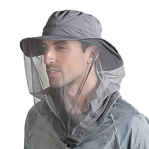 Hunterbee Dark Gray Beekeeper bee Beekeeping hat/Mosquito Insect hat/Mesh Bug face Shields Mask