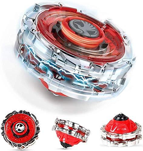Innoo Tech 1 Stück Kampfkreisel Set, 4D Fusion Modell Metall Masters Beschleunigungslauncher, Speed Kreisel, tolles Kinder Spielzeug(Rot)