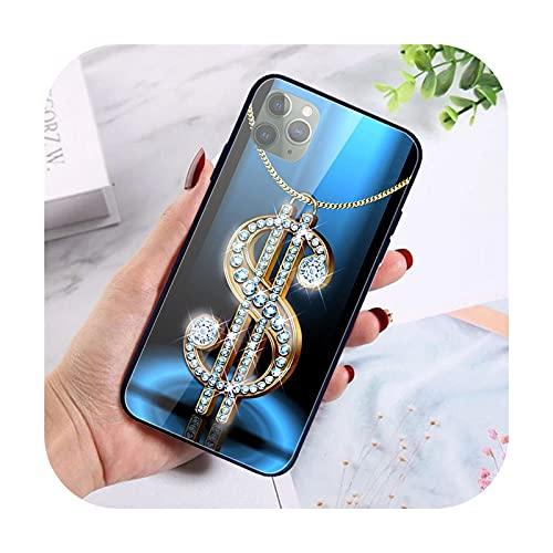 Para iPhone X XR XS 11 12 Pro Max 8 7 5 5S SE 2020 6S 6 Plus Shell vidrio templado teléfono móvil Carta humo S wallpaper-Imge 12-Para iphone 12 Pro