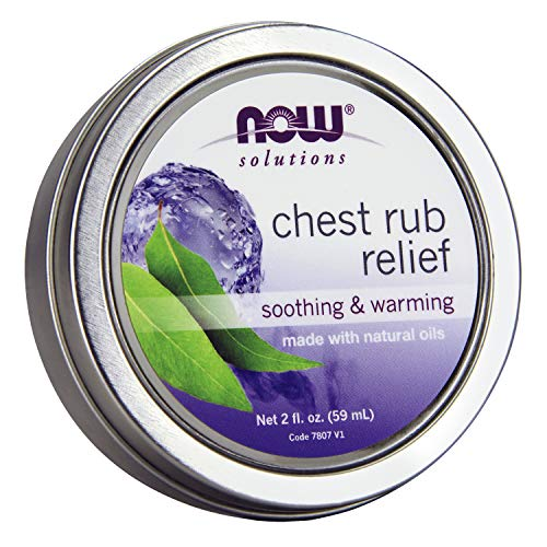 NOW Solutions, Chest Rub Relief, Soothing and Warming, with Soothing Natural Oils and Menthol Aroma, for Breathing Comfort and Well-Being, 2-Ounce