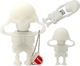 USB Flash Drive USB Flash Disk Memory Stick Thumb Pen Pendrive USB2.0 Novelty Cute Cartoon Skull Skeleton Shape Date Stora...