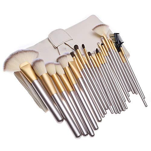 Set De Pinceaux De Maquillage Tool 24 Pinceau De Maquillage Blanc Beige