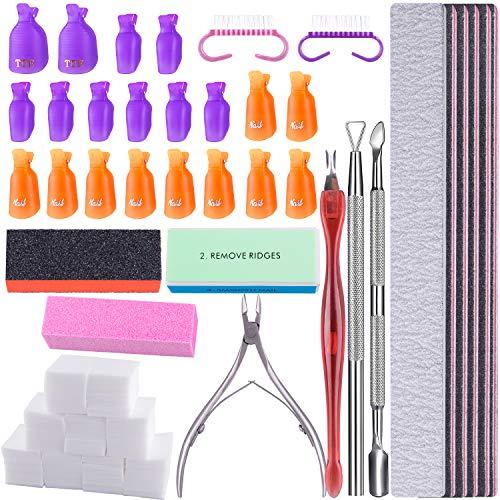 SIQUK Kit de Herramientas para Uñas Removedor 20 Piezas Clip de Removedor...