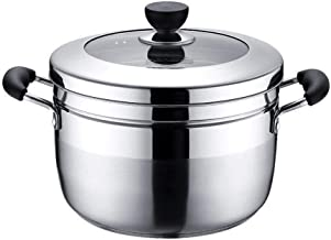 MSWL New Japanese Steamer Imported Stainless Steel Double Bottom Steamer Pot Induction Cooker Universal Cooking Pot Good Q...