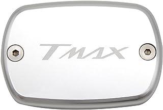 Tmax 530 Tmax 500 Fluido de Freno Delantero Depósito de Combustible tanque Front Brake Reservoir Fluid Cap par Yamaha Tmax530 XP530 2012 2013 2014 2015 2016 Tmax500 2008 2009 2010 2011(Plata)