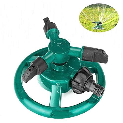 SJTL Automatique Arroseur de Jardin Darrosage avec 3 Têtes 360 Degrées Rotatif Arrosage Irrigation pour Gazon Pelouse Jardin Facile de Raccordements de Tuyaux