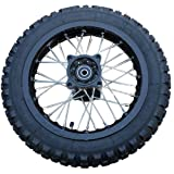 X-PRO 12' Rear Wheel Rim Tire 3.0-12 with 12mm Bearing Assembly for Dirt Bikes