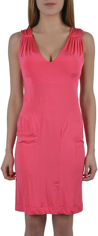 Just Cavalli Pink Deep VNeck Sleeveless Women's Stretch Dress