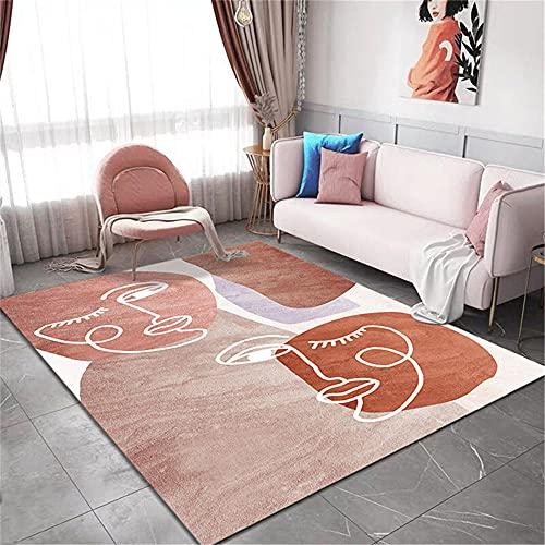Mattor lekmatta rosa brun söt graffitidesign barnmatta mjuk halkskydd trall mattor för sovrum 60 x 160 cm