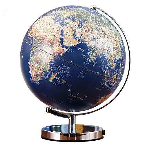 Lzcaure-OFF Globus LED Emboss Beleuchtet Earth Globe for Kinder & Erwachsene pädagogisches Spielzeug, Bürobedarf, Lehrer Schreibtisch Décor (Farbe : Blau, Größe : Einheitsgröße)