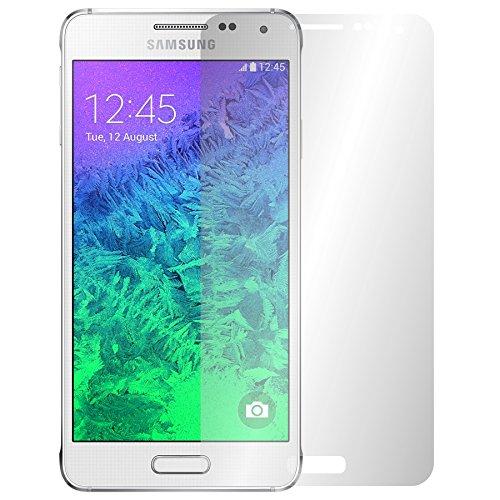 Slabo 4 x Protector de Pantalla para Samsung Galaxy Alpha lámina Protectora Ultra Transparente