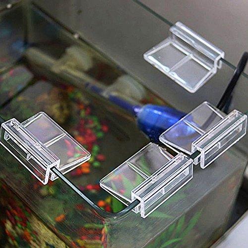 Emvanv 4pcs acquario serbatoio plastica clip Fish Tank trasparente in vetro clip di sostegno supporti durevole