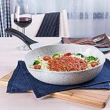 Padelle in Ceramica Uova Pasta Antiaderente Padella Utensili da Cucina per Gas, 28 cm Giallo