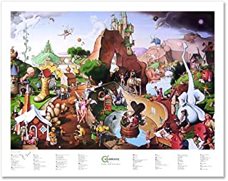 Signed Catchpenny (Fairy Tales & Nursery Rhymes) Poster by T. E. Breitenbach. 28x22 inches