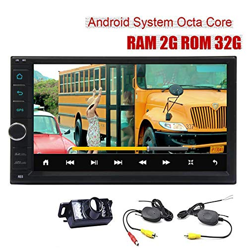 7 Pouces ¨¤ ¨¦Cran Tactile Android 8.1 Car Stereo Octa GPS Navigation de Base Voiture Radio en Dash Double Din Lecteur vid¨¦o 1080P Soutien Bluetooth FM/AM/RDS Commandes au Volant USB/SD + GRA